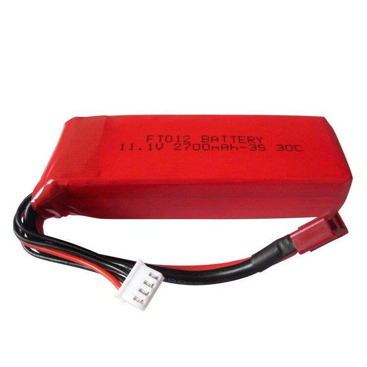 Batterie li-po de remplacement de la capacité élevée 11.1V 2700mAh améliorée pour les pièces de rechange de bateau de Feilun FT012 RC