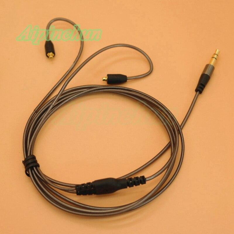 Aipinchun-Cable de repuesto para auriculares, conector de 3,5mm, MMCX, para Shure SE215,...