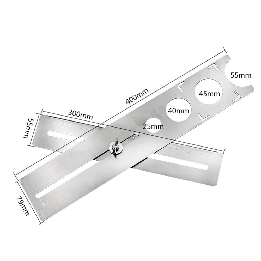 Multi-funcional de localizador perforadora Tapper vidrio universal pared azulejo máquina de marcado ponche ajustable agujero posición gobernante