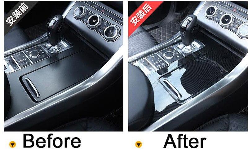 Carbon Fiber Style For Landrover Range Rover Sport RR Sport 2014-2017 ABS Plastic Center Console Panel Cover Trim Parts