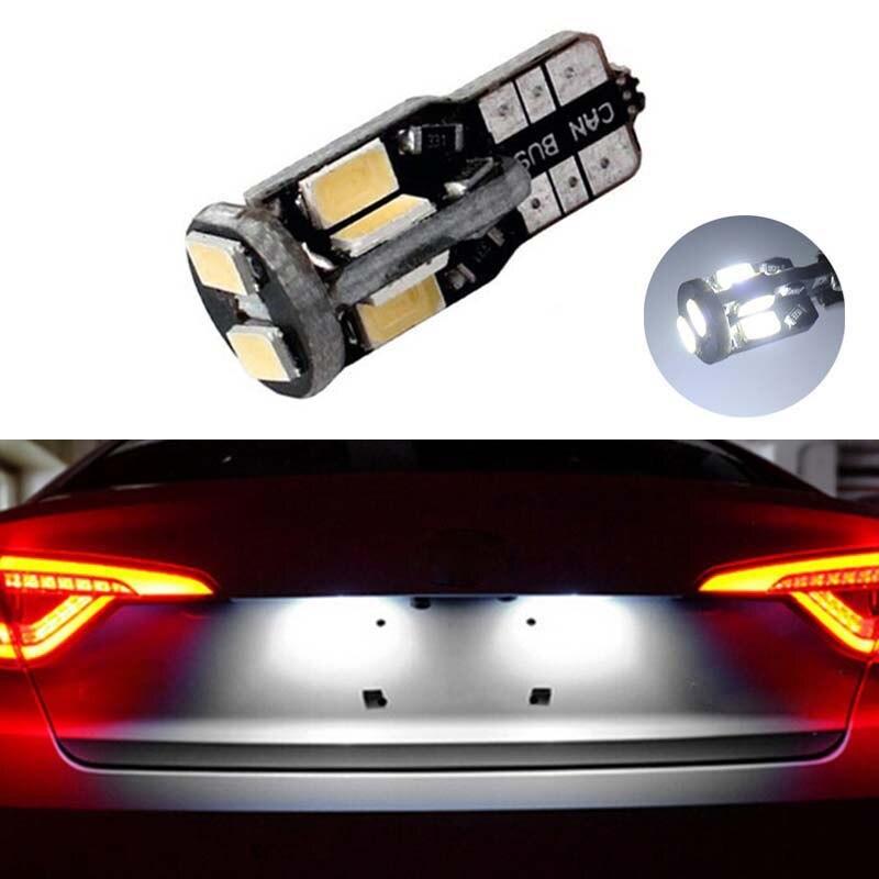 1x T10 W5W Canbus LED del coche bombillas t10 zócalo de la lámpara luz de placa de licencia para Nissan Juke Nissan Micra III (K12) Micra IV (K13) nota (E11)
