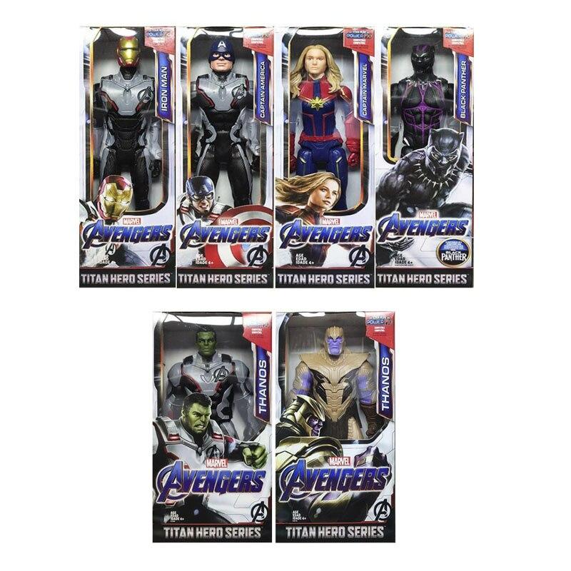 Marvel Avengers Thanos Iron Man Captain America Captain Marvel Hulk Spiderman PVC Action Figure Toys
