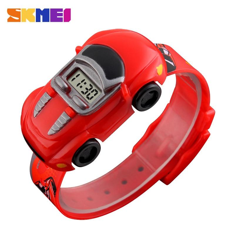 Детские часы SKMEI для мальчиков креативные Мультяшные Детские часы с датой и временем автомобильные часы Красочные подходящие часы детские ...