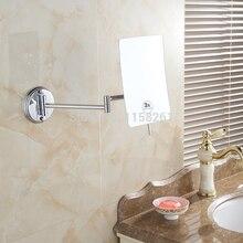 Vidric miroirs de bain miroir grossissant 3X   Miroir de maquillage mural de salle de bains de 1 face dame, carré miroirs cosmétiques pliants avec bras
