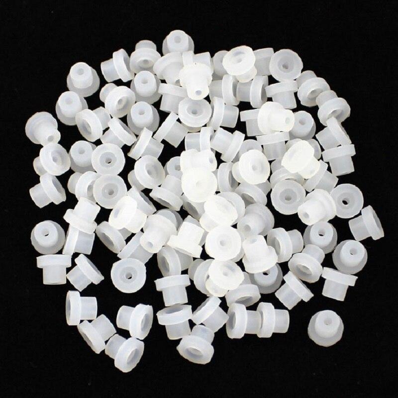 100 шт./пакет высококачественных белых силиконовых мягких резиновых втулок, соски для тату-машинки, иглы, поставка