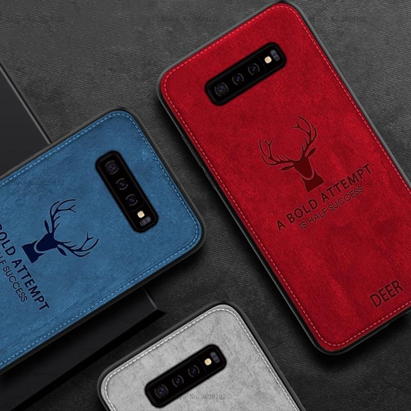 Тонкий силиконовый чехол для телефона, для samsung Galaxy S10 S8 S9 плюс S10e Note 8 9 A9 A7 A8 A6 плюс 2018 Ткань текстуры Мягкий чехол