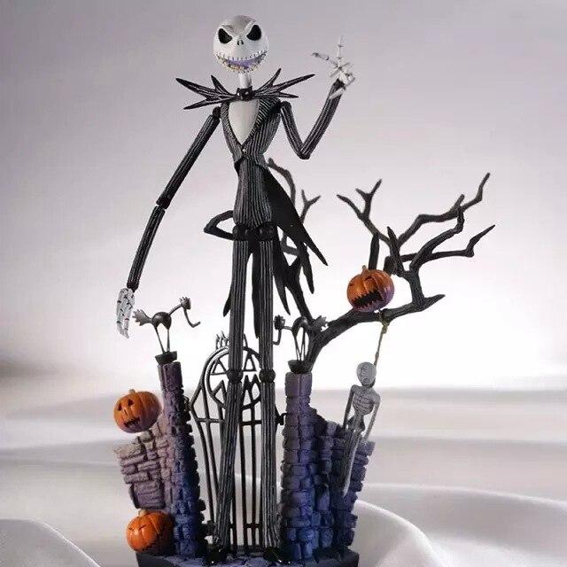 Muñeca MODELO DE 18 cm SCI-FI REVOLTECH Jack 005 figura de acción Jack Skellington con calabaza la pesadilla antes de Navidad