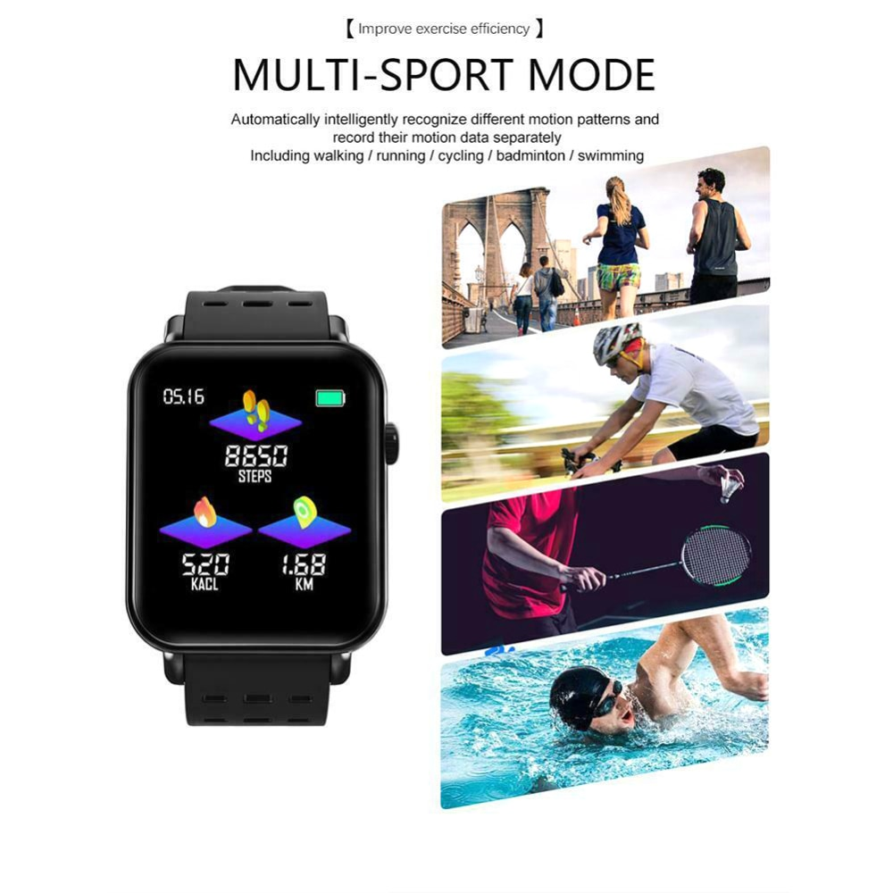 """Reloj inteligente Y6 pro 1,3 """"pulsera de Fitness de banda inteligente con Monitor de frecuencia cardíaca y presión arterial"""