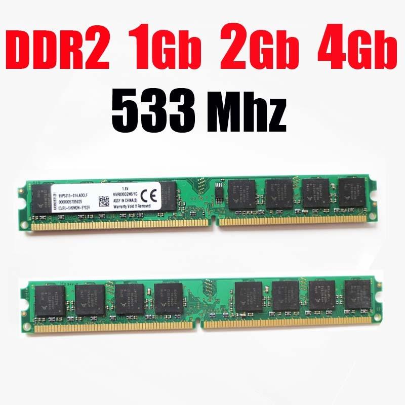 1Gb ddr2 533mhz RAM PC2 4200 RAM memoria DDR2 1Gb 2Gb 4G 4 Gb 533Mhz / 533 ddr 2 1G 2Gb 4G 8Gb PC2-4200. Garantía de por vida