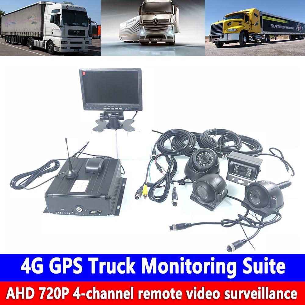 Soporte 4CH entrada de audio y vídeo 4G GPS camión monitoreo Suite control remoto vídeo en línea monitoreo en tiempo real satélite posicionamiento