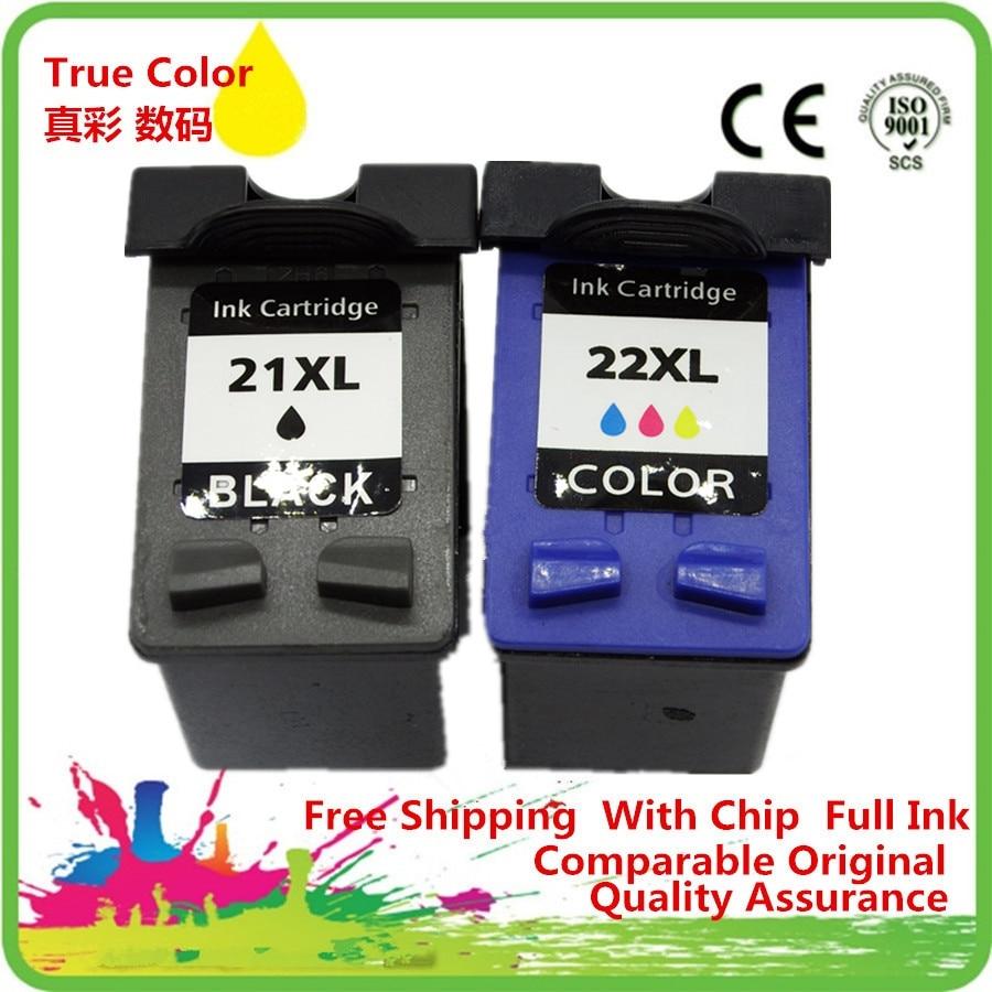 Cartuchos de tinta Remanufactured Para 21 22 21XL HP21XL HP21 HP22 C9351A C9352A DeskJet D1530 D1558 D1560 D1568 D2320 D2330 D2345