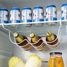 Support de réfrigérateur bouteille de vin   Organiseur de cuisine étagère de rangement réfrigérateur bouteille de bière support de bouteille de vin, étagère organisateur étagères
