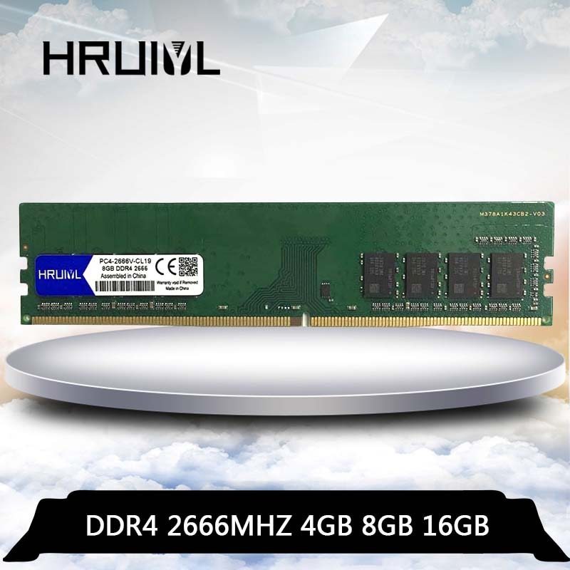 HRUIYL ddr 4 1 GB 2 GB 4GB 8GB 16GB ram 2666, 2666 V, 2666 mhz, computadora de escritorio memoria ddr4 PC4-2666 4G 8G 16G PC placa base memoria RAM dimm