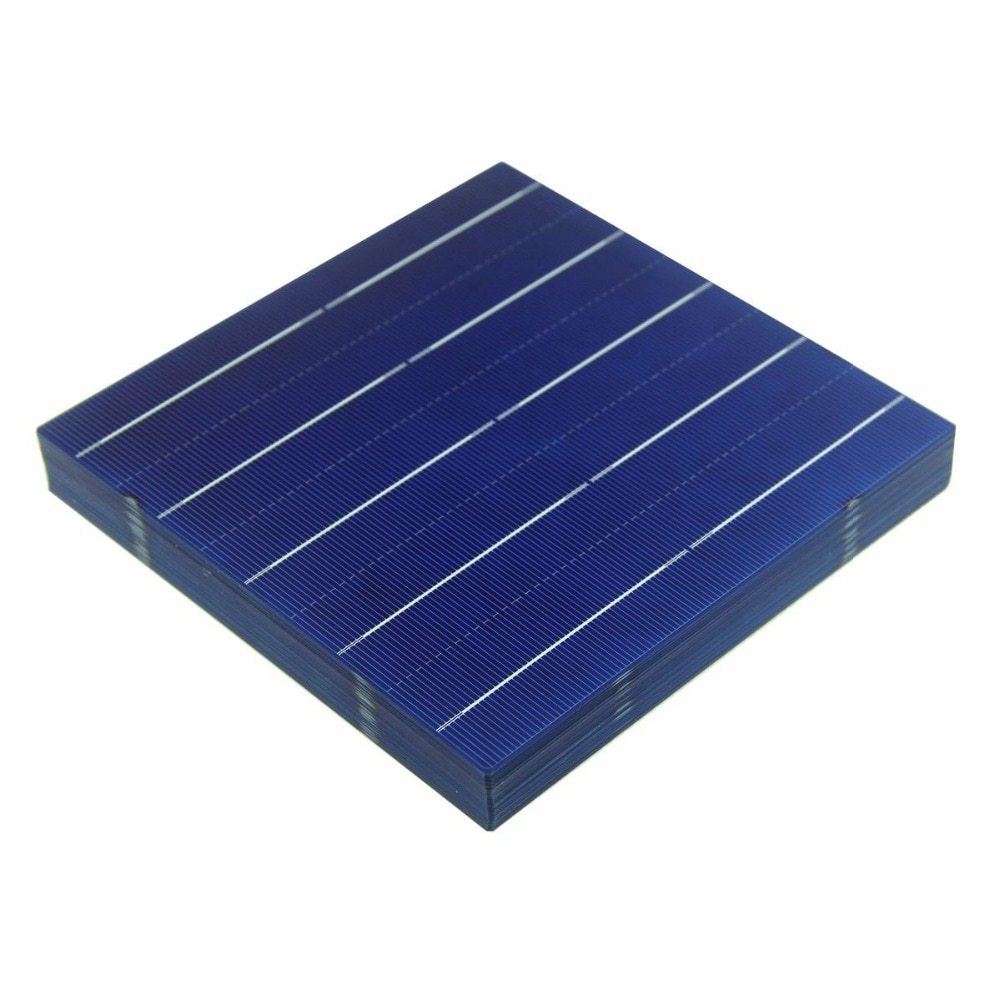 10Pcs 156MM DIY Polycrystalline Solar Panel Battery Cell 6x6 China Cheap Prices