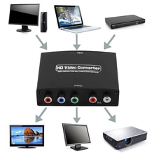 Nowy 1080P HD jasne HDMI do RGB składnik konwerter wideo YPbPr i R/L adapter audio konwerter