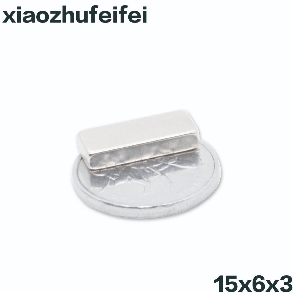1000pcs 15mm x 6mm x 3mm N35 Super Strong Magnet Block NdFeB Cuboid Rare Earth Neodymium Magnets 15*6*3 15x6x3 Free Shipping