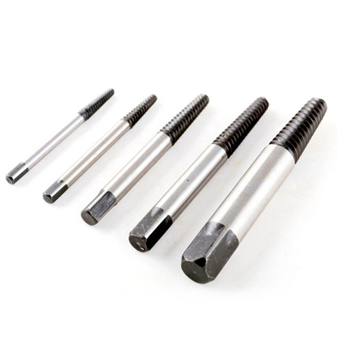 Extractor de tornillo dañado de velocidad rota 5 uds acero al carbono 3-18mm conjunto de guía de broca tornillo roto extractor tornillo móvil