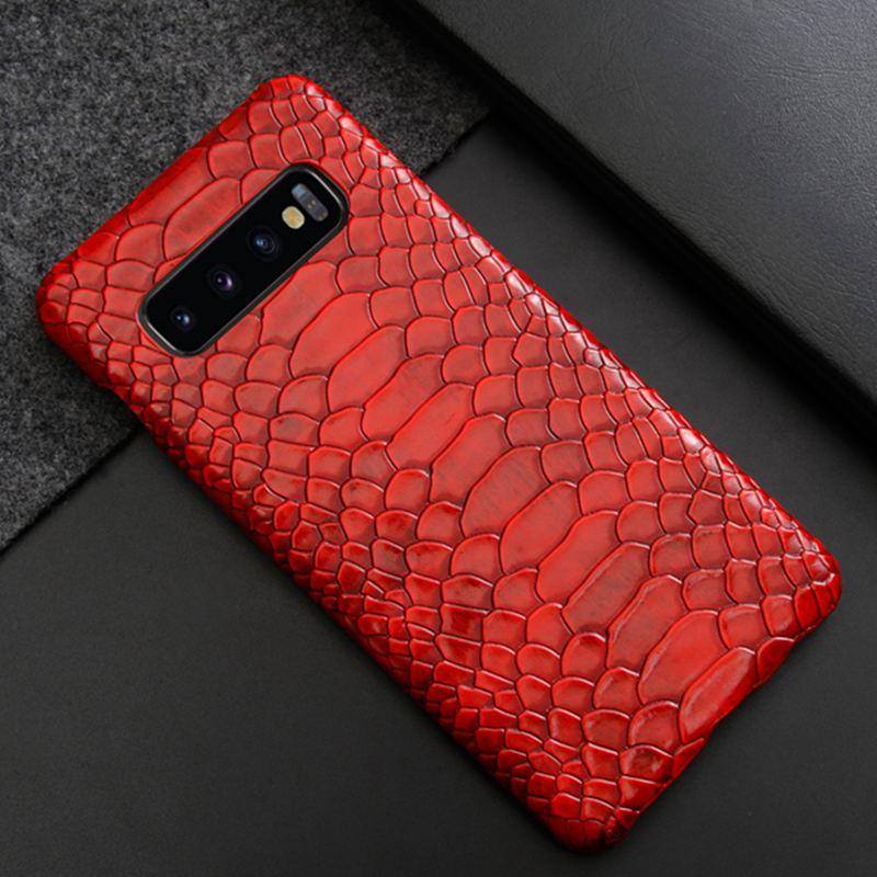 Funda de piel sintética para Samsung Galaxy s10 s9 plus lite note 9 8 10 pro, Funda rígida de piel de serpiente para Samsung note 10 s10plus s9plus note8 note9