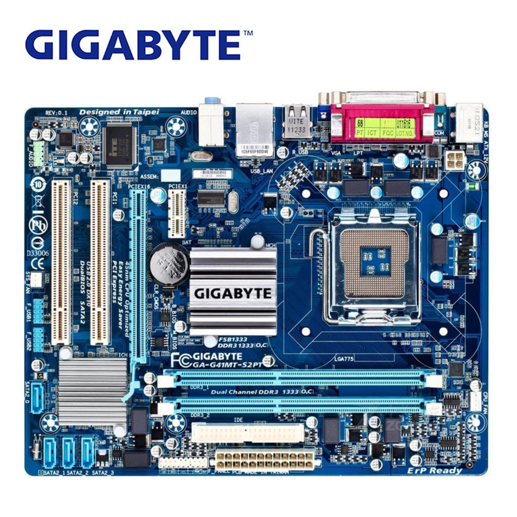 LGA 775 для Intel G41 Gigabyte GA-G41MT-S2PT материнская плата DDR3 8G G41MT-S2PT настольная материнская плата Micro ATX системная плата VGA б/у