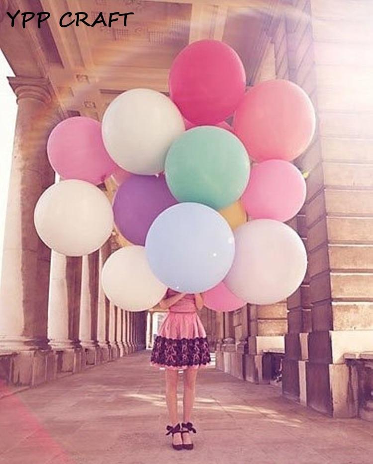 Ypp craft 36 Polegada super grande decoração de casamento festa balões espessamento multicolorido látex gigante enorme balão globos 5pc