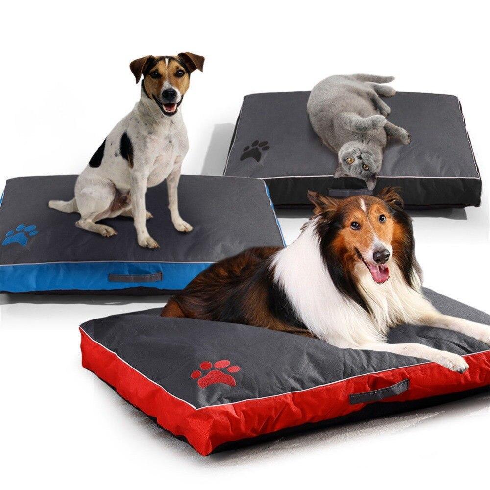 Washable Big Dog Bed Pet Soft Large Dog Cushion Kennel Paw Design Pet Cozy Sofa Puppy Mat Cat Bed Labrador Sofa Pet Bedding