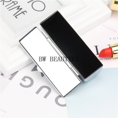100Pcs/Lot Metallic Lipstick box case,cosmetic cases with mirror for lipstick packaging box Lip balm packaging metal box