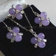 Vente chaude nouveau Style>>>>> 8mm Alexandrite perles boucles doreilles et anneau et collier ensemble de pendentif