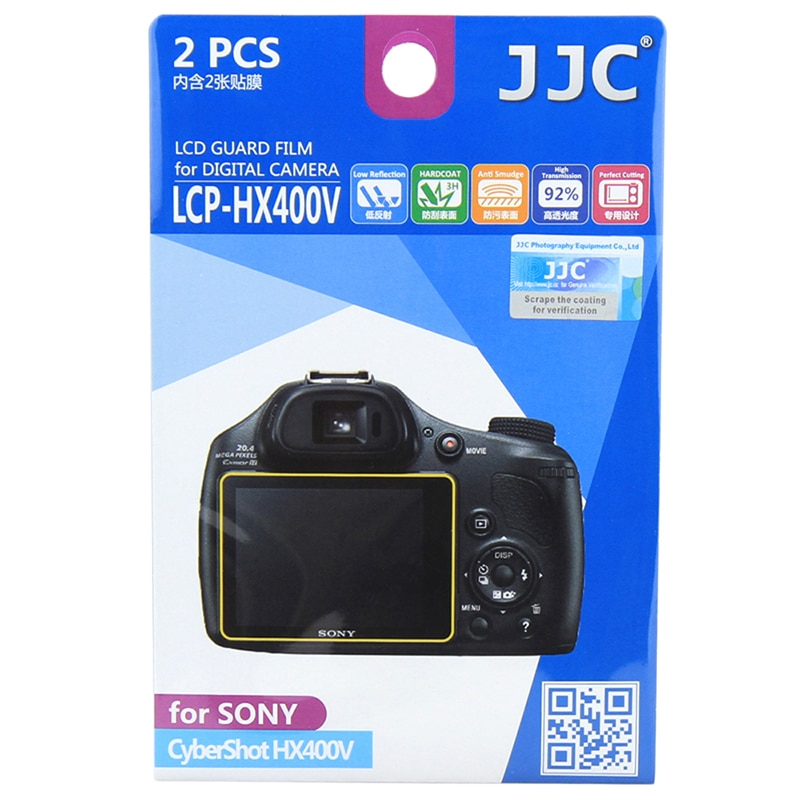 JJC LCP-HX400V LCD Schutz Film Screen Protector Für Sony CyberShot HX300/HX400V Dslr Monitor Display Schutz Zubehör