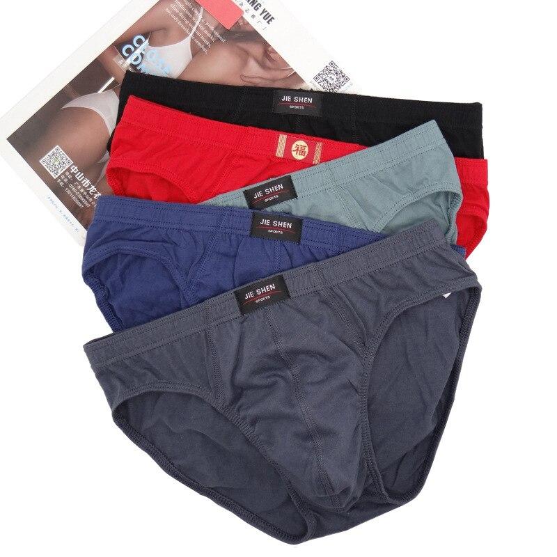 Luckymily Baumwolle herren Unterwäsche Komfortabel Mittleren-im alter von Mens Briefs Einfarbig Große Größe Fett Mittleren Taille Hosen Männer dessous