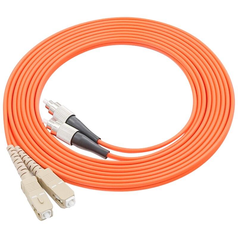 Cabo de ligação em ponte do cabo de remendo da fibra ótica do sc/UPC-FC/upc de 1 par, duplex multi-modo 62.5/125, 10 m/15 m/20 m/30 m/35 m/50 m