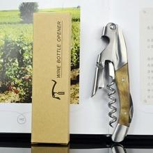 Ouvre-bouteille de vin en bois tire-bouchon en acier inoxydable ouvre-boîte de bière couteau dhippocampe en bois accessoires de vin barre Reatarant Home