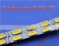20 sets x dimable led backlight lamps update kit adjustable led board 2 strips for monitor desktop free shipping