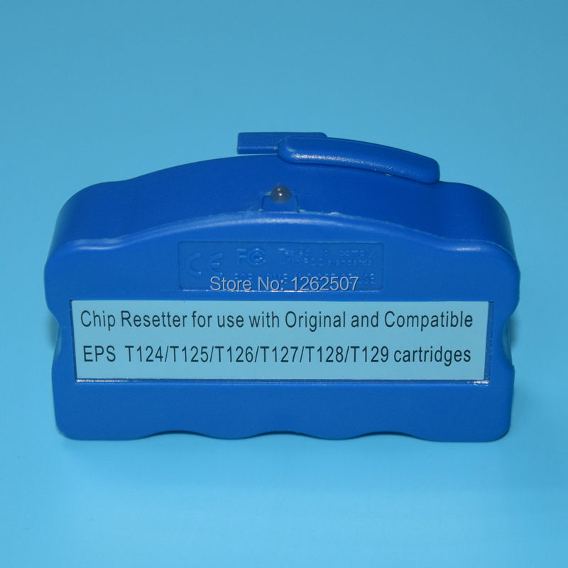 Resetter Chip Para Epson T1261-T1264 WF-3520/T1271-T1274 resetter chip do cartucho Para Impressora Epson wf-3540 NX330 WF-3520 NX430