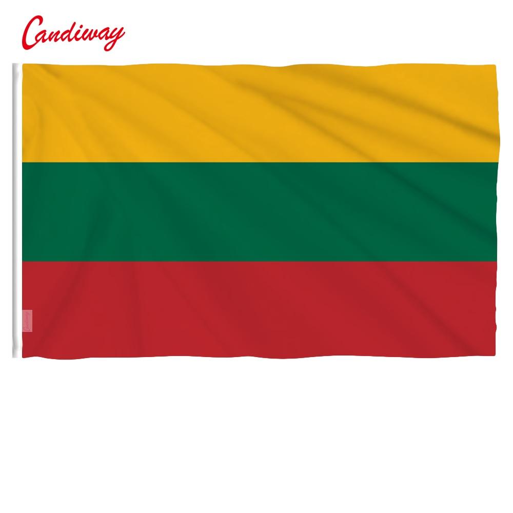 Litauisch Fahnen 3x5FT/90*150 cm Hängen Litauen flagge banner Büro/Aktivität/parade/Festival/ hause Dekoration NN088