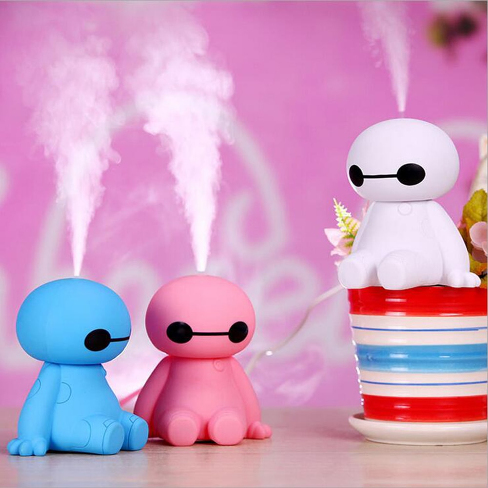 120ML USB Big Hero Baymax Dry Protect Ultrasonic Essential Oil Aroma Diffuser Air Humidifier Mist Maker for Home Office