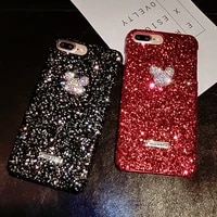 new luxury glitter diamond phone case for iphone 12 case for iphone 11 12 pro max case cover xs max xr 8plus 7plus coque funda