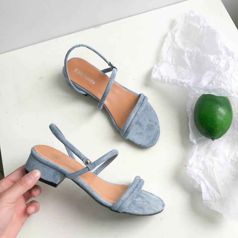 Sandálias de Verão Sapatos de Salto Mulher de Volta Chinelos Femininos Sapatos Azuis Plano Flip Gladiador Breve Flop Sandálias Cinta Mujer
