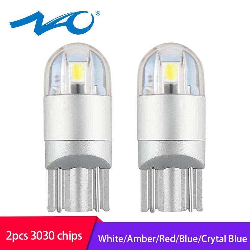 2x W5W LED 12V T10 lámparas de coche 168 194 giro lateral matrícula luz de estacionamiento de coche niebla Luz de liquidación NAO nueva llegada