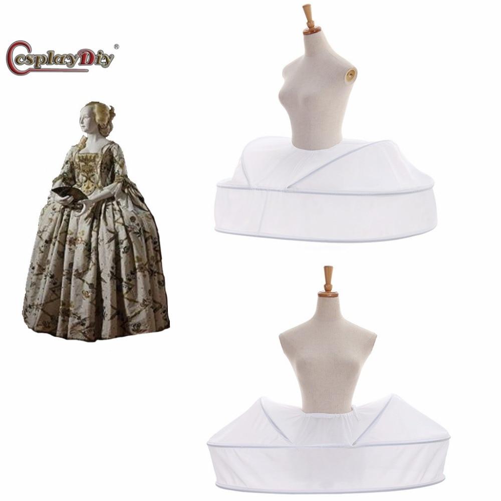 CosplayDiy Rococo платье Нижняя юбка Vantage нижняя юбка женская средневековая кринолиновая юбка викторианская клетка платье косплей аксессуары JT