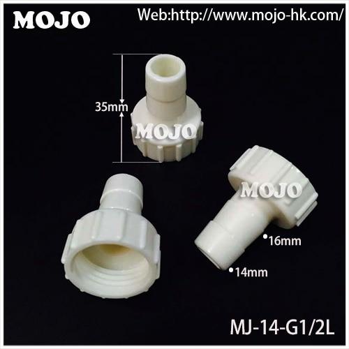 "¡Envío gratis 2020!(10 unids/lote) MJ-14-G1/2L conector hembra recto de 14mm a G1/2 ""Conexión de unión de tubo de rosca interna"