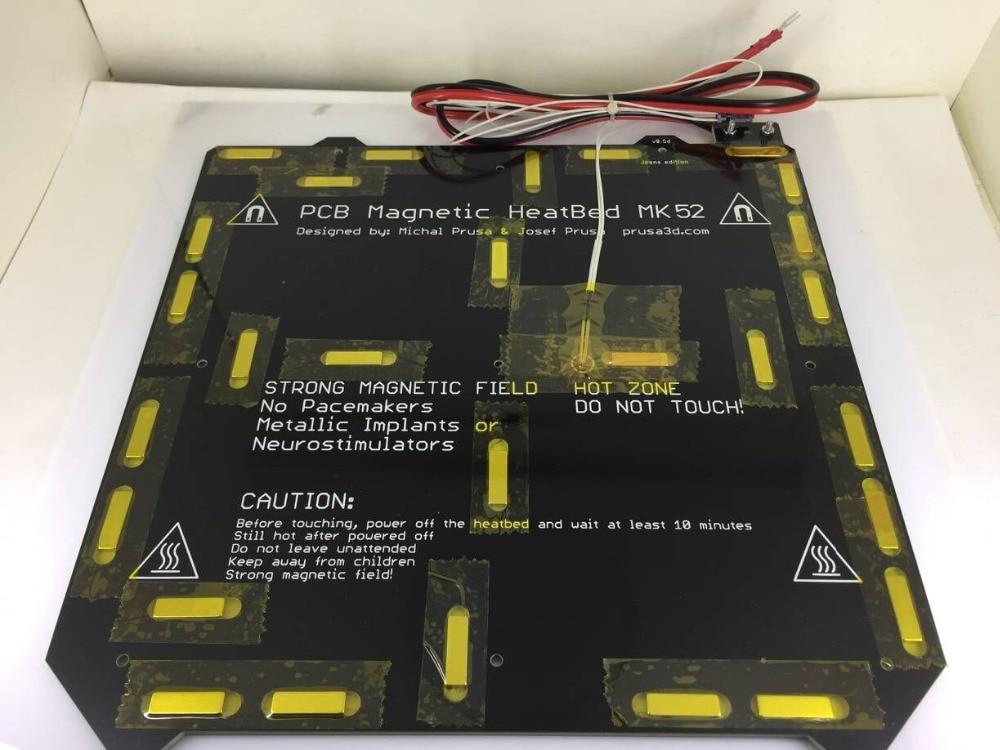 24 فولت/12 فولت استنساخ Prusa i3 MK3 طابعة ثلاثية الأبعاد ساخنة السرير المغناطيسي MK52 الحرارة مع الثرمستور الجمعية مجموعة