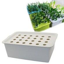 24 buracos planta local kit hidropônico vasos de jardim plantadores vasos de mudas caixa cultivo indoor crescer kit bolha berçário potes 1 conjunto