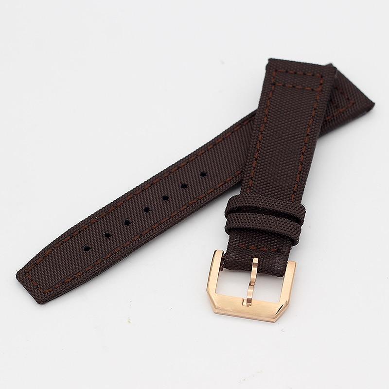 Купить с кэшбэком Nylon watch Strap For IW C Portofino Portugieser Da Vinci Pilot's Watches Band 20MM 21MM 22MM Men's watch bracelets Accessories
