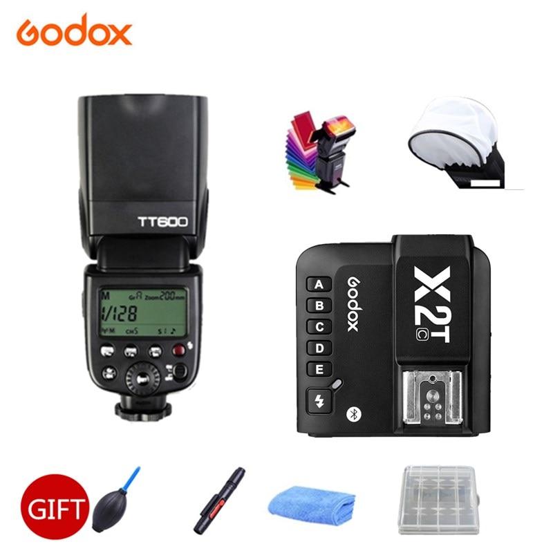 Godox TT600 TT600S Flash Speedlite 2.4G Wireless TTL+ X2T-C/N/S/F/O Trigger Bluetooth by Phone for Canon Nikon sony fuji olympus