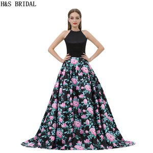 H&S BRIDAL A-line Evening Dresses casamento Halter Prom Evening Gown Party Dresses With Pockets Prom Dresses robe de mariee