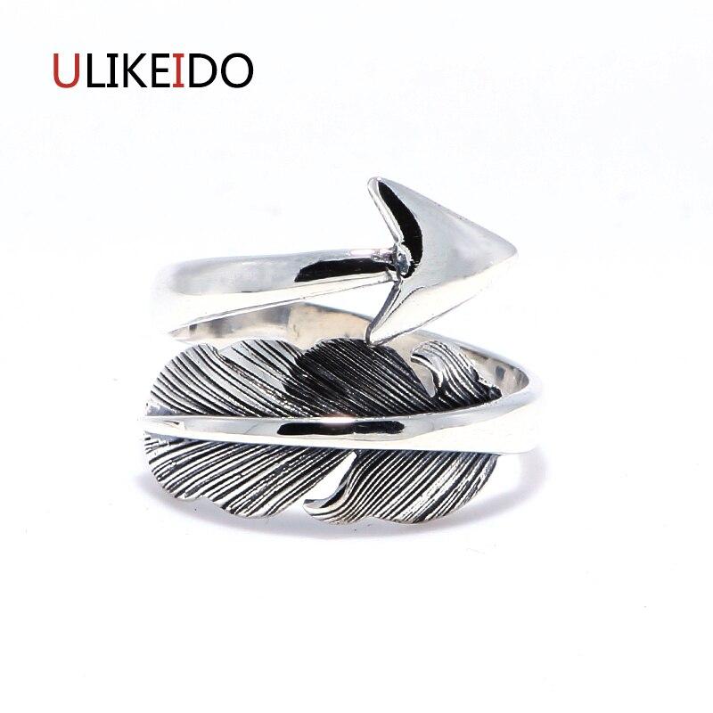 Venta caliente plata pura 925 anillo Takahashi Goros anillos flecha plumas apertura para mujeres cumpleaños regalo joyería 172