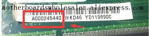Placa base cambiante para placa base Toshiba L75-A C75-A A000245440 DA0BD6MB8D0