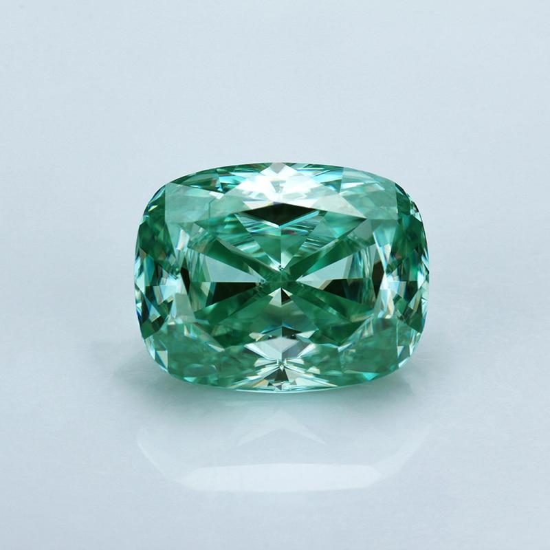 قطع وسادة 8*10 مللي متر ، مويسانيتي أخضر لاختبار خاتم الخطوبة ، مويسانيتي إيجابي
