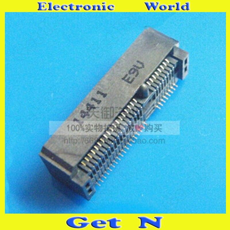 200 قطعة PCI-E 52P 9.0H فتحة بطاقة شبكة لاسلكية 3G وحدة Msata موصلات مقبس الكمبيوتر المحمول