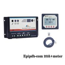 Régulateur de Charge solaire   20A 12V 24V EP Dual Duo deux batteries, régulateur de Charge solaire avec mètres
